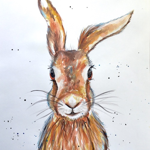 March hare painting