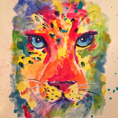 Colourful leopard