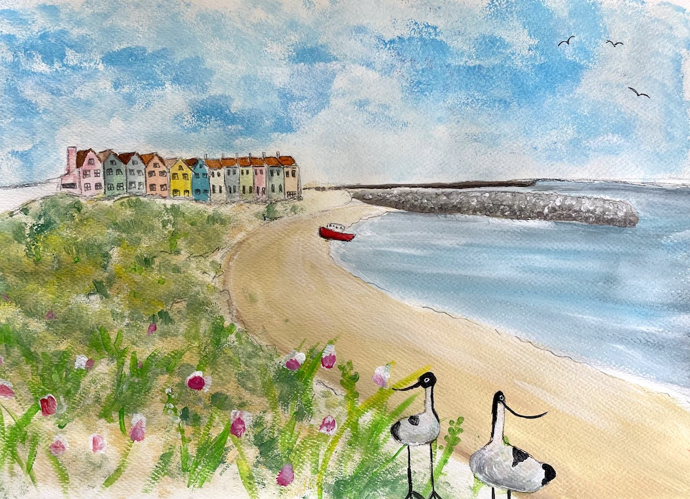 """Featured image for """"Braye Bay Painting"""""""