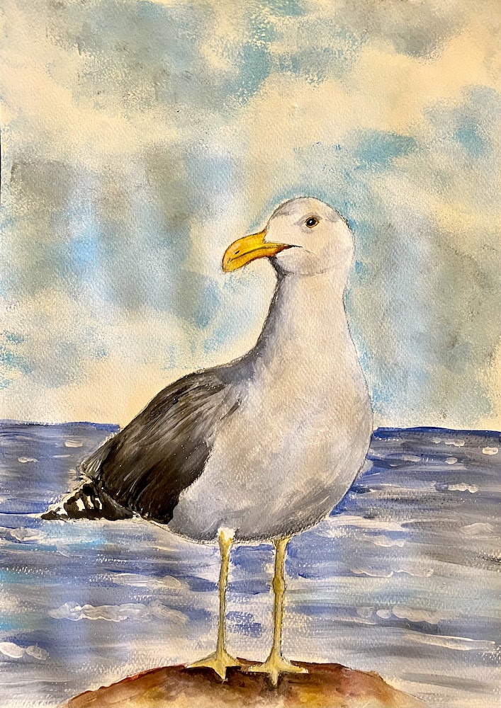 """Featured image for """"Sea Gull Painting"""""""