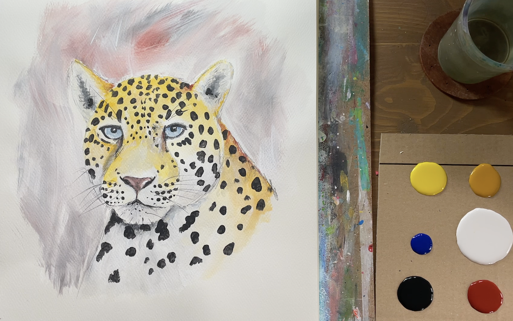 """Featured image for """"Leopard Painting"""""""
