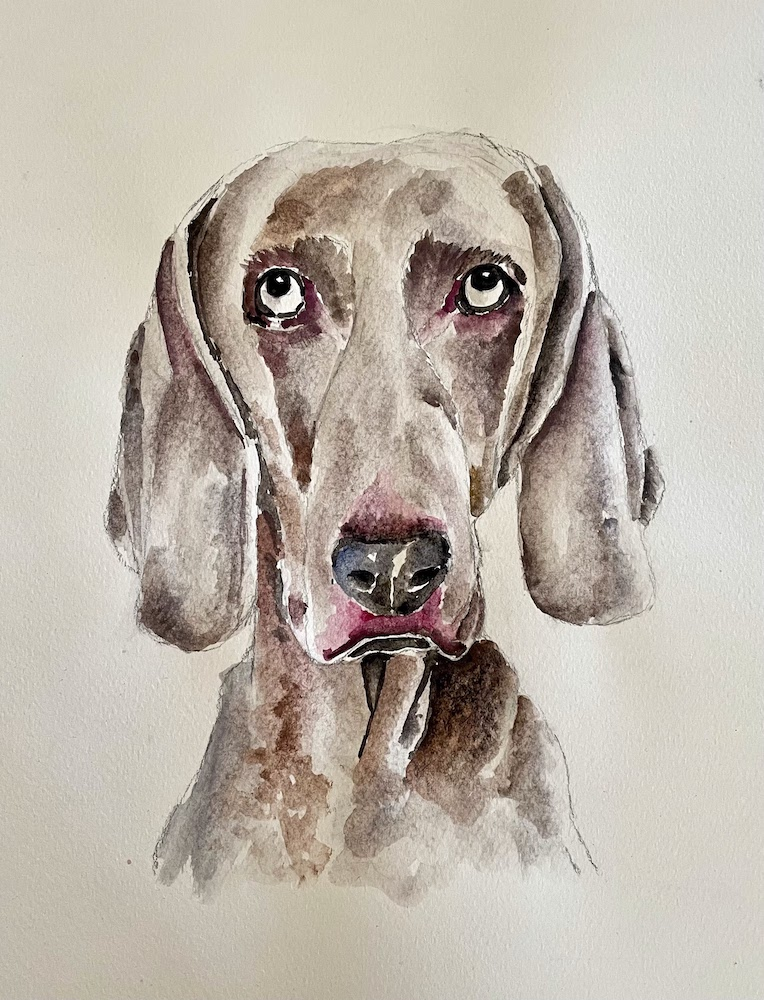 """Featured image for """"Weimaraner Painting"""""""